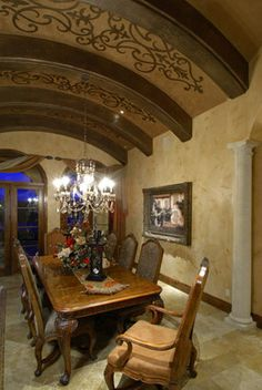Formal dining room at Casa Cielo.  We worked on this home with Tara Custom Homes. #USFloorsDirect #Amazing #CasaCielo
