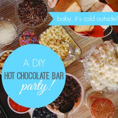 How to throw a DIY Hot Chocolate Bar Party (tips and recipes) #partycrafters