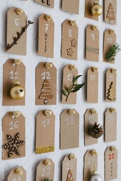 35 DIY Advent Calendar Ideas To Countdown The Til Christmas - Glitter and Caffeine Diy Christmas advent calendar. by BONNINSTUDIODiy Christmas advent calendar. by BONNINSTUDIOThe advent calendar with templates to print for free from Homemade Advent Calendars, Diy Advent Calendar, Calendar Ideas, Christmas Night, Christmas Crafts, Christmas Decorations, Christmas Tables, Nordic Christmas, Modern Christmas