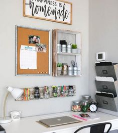 Office organization does not have to be hard or take a ton of time. Use these quick tips and tricks to help you get your home office in order to allow for more productivity. office decor diy Office Organization Ideas, Tips and Tricks Study Room Decor, Cute Room Decor, Room Ideas Bedroom, Bedroom Decor, Office In Bedroom Ideas, Study Rooms, Study Areas, Study Space, Home Office Space