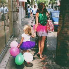 What a good momma. Sporting a tutu for her little girl's birthday. Love this picture.