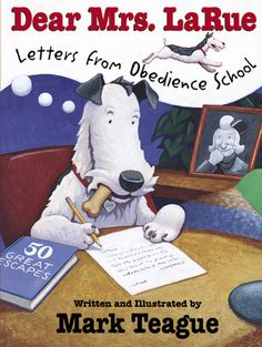 Dear Mrs LaRue follows a dog as he sends letters to his owner from obedience school. It is a great way to show student Writing Conventions! It also has a newspaper article at the end, which could serve as another template.