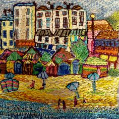 Broadstairs  hand embroidery by Anna Baker by Thestitchintime
