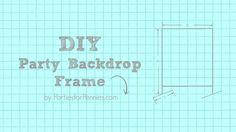 Learn how to build a DIY Backdrop using PVC pipes to use for parties, photos…