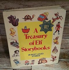 A Treasury of Elf Storybooks 1979 Hardcover Rand McNally Vintage Children's book