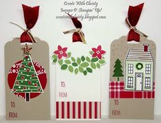 Stampin' Up! Christmas Tags - Festival of Trees, Wondrous Wreath, & Holiday Home - Create With Christy - Christy Fulk, Stampin' Up! Demo
