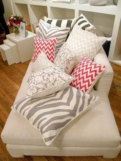 Stripes, Chevrons & Zebras - want all these pillows