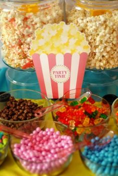 Popcorn and Pajama Party invitation! Comes in your custom colors!