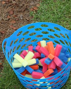 Backyard Water Park birthday party. love the sponge balls from Dollar Store sponges, and other cute water birthday ideas