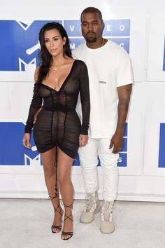 Kim Kardashian West and Kanye West at the MTV VMAs.