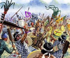 La Pintura y la Guerra. Sursumkorda in memoriam. Military Art, Military History, Conquistador, Aztec Empire, Mexican Army, Apocalypse Art, Aztec Culture, Aztec Warrior, Renaissance Era
