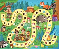 Lunarable Board Game Pet Mat for Food and Water, Camping Boys and Girls in Nature Forest Animals Trees Mushrooms Daisies Fun Joy, Rectangle Non-Slip Rubber Mat for Dogs and Cats, Multicolor Board Game Template, Printable Board Games, Templates Printable Free, Games For Kids, Games To Play, Class Games, Sorry Board Game, Bord Games, Board Game Themes