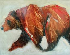 Sarah Rogers at Horizon Fine Art Gallery, Jackson Hole, WY Watercolor Animals, Watercolor Art, Jackson Wyoming, Jackson Hole, Painting Inspiration, Art Inspo, Animal Paintings, Abstract Paintings, Bear Illustration