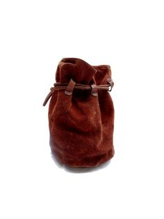 XL french 80s suede BUCKET bag // bohemian by louloufrenchvintage