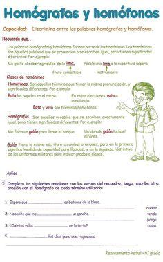 Razonamiento Verbal para Sexto Grado de Primaria 6º PDF | Razonamiento Verbal
