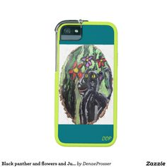 Black panther and flowers and Jungle Phone SE/5/5s Case