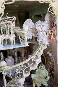 Fairy Furniture, Doll Furniture, Paper Doll House, Architectural Sculpture, Paper Mache Sculpture, Half Dolls, Glitter Houses, Flower Fairies, Miniature Fairy Gardens