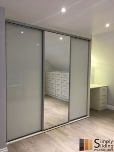 Another one of our fully fitted wardrobes. Simply Sliding Wardrobes promises efficiency dedication and complete satisfaction for the customers. - September 28 2019 at Fitted Bedroom Furniture, Fitted Bedrooms, Modern Bedroom, Sliding Door Wardrobe Designs, Wardrobe Design Bedroom, Sliding Glass Door, Sliding Doors, Glass Doors, Bedroom Cupboards