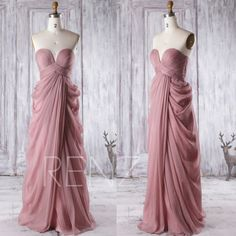 2016 Dusty Thistle Bridesmaid Dress Sweetheart Wedding by RenzRags