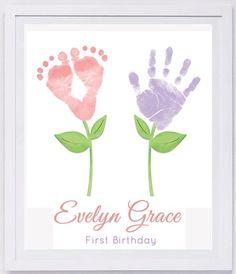 Baby Footprint kunst, Forever Prints hand- en voetafdruk aandenken voor kinderen of baby. Mother