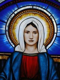 Custom Made Virgin Mary by Missouri Leaded Glass on CustomMade.com