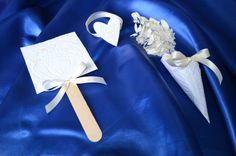 Wedding kit. 50 paper fan 50 paper cornet 50 di BibliothecaSelecta