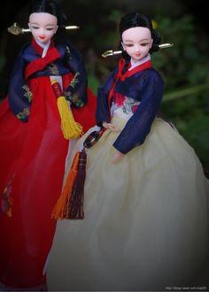 DOLLS KOREA, Hanbok, Korean traditional style - 적모란 , 뜰안