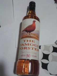 50th Birthday Present - personalised Famous Grouse label