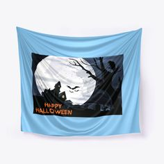 Discover Happy Halloween Art Work/Home Decor T-Shirt, a custom product made just for you by Teespring. - Happy Halloween Art Work If you're HALLOWEEN. Halloween Shirts For Boys, Cute Halloween, Shirts For Teens, Work Lights, Timeless Design, Art Work, Light Blue, Just For You, Tapestry