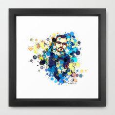 Aleks Syntek Framed Art Print by Rene Alberto - $33.00