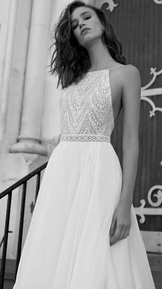 Halter neck lace wedding dress inspiration