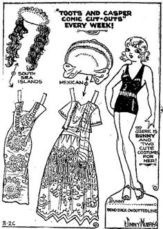 TOOTS paper doll from the Toots and Casper Sunday comics of August 12, 1934. Description from mostlypaperdolls.blogspot.ca. I searched for this on bing.com/images