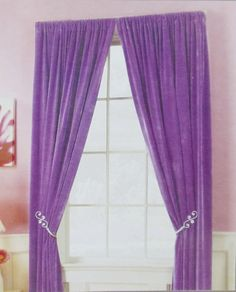 Sweet Violet Bedroom Curtain Photos Collection : Fascinating Violet Bedroom  Curtain With Pink Wall Painting And