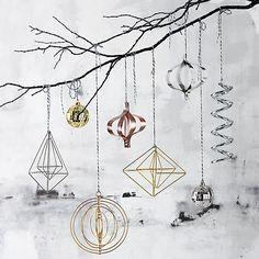 wire ornaments   CB2