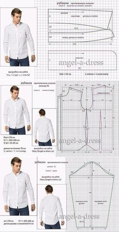 men's shirt pattern with sleeve variations free pattern diagramRead more about mens shirts♥ Deniz ♥Tap the link to check out great cat products we have for your little feline friPattern Making Fundamentals: Dart manipulation and pivot points (VIDEO)Ch Mens Sewing Patterns, Sewing Men, Sewing Clothes, Clothing Patterns, Diy Clothes, Dress Patterns, Shirt Sewing Patterns, Pattern Sewing, Sewing Coat