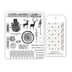 Hi everyone!! I am back with some more STAMPtember fun! I was so excited when I went to my mailbox only to find the Tim Holtz/Stampers Anonymous STAMPtember set! I was so inspired by this stamp set and the stencil I have 2 projects to share with you and a tutorial! STAMPtember is a month …