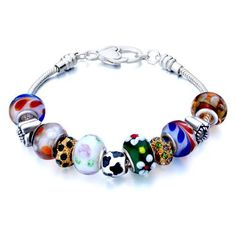 Valentines Day Gifts Pugster Beads Fit Pandora Chamilia Biagi Charm Murano Glass Bracelet Pugster. $49.99. Free Jewerly Box.. Great to give away as presents, gifts to friends or family members.. Handmade in China in the VenetianáMuranoáStyle. Stunning Colorful Murano Glass Style Designer Fashion bracelet. Money-back Satisfaction Guarantee