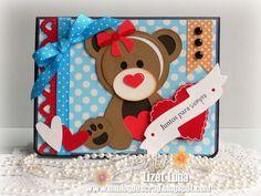 Album Scrapbook, Ideas Para, Lunch Box, Club, Valentine Cards, Card Sketches, Cute Cards, Bears, Boxes