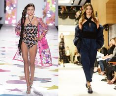 At the Heatherette Fall/Winter 2005 show, and the Sonia Rykiel Spring/Summer 2015 show in September last year. Nowadays, Miranda Kerr is a household name, but she was just a fresh-faced 21-year-old when she made the move from modeling Australian surfwear to walking New York City catwalks in 2004. (Frequent appearances for then-It brand Heatherette helped put her on the map.)   - HarpersBAZAAR.com