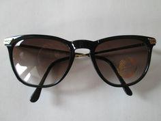 1 Retro Sonnenbrille schwarz goldfarben 50er 60er Brille Vintage 50s 60s 2