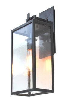 Barstock iron light modern lantern or transitional by ADG Lighting - collected by LeAnn for linenandlavender.net for https://www.pinterest.com/linenlavender/light-fixtures/