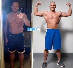 Burt Lost 40 lbs of Fat and Got Ripped 6 Pack abs in only 4 months http://hitchfit.com/2012-09-24/before-afters/lose-fat-and-get-6-pack-abs/