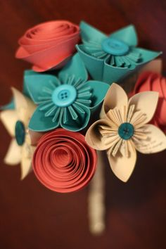 How Do I Love Thee Book Pages Coral & Turquoise by QtsyThings, $42.00