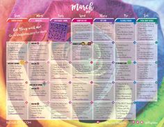 March 2017 Workout Calendar!