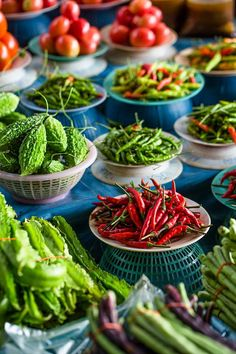 Fresh ingredients at Hawker Fare, a Thai Isaan eatery.