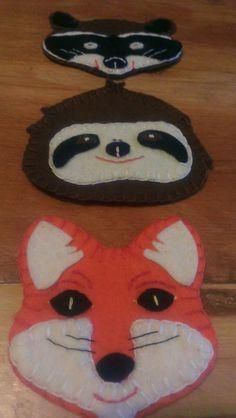 Free Felt Patterns for Cute Animals - jananas Felt Diy, Felt Crafts, Crafts For Kids, Cloth Patterns, Felt Patterns, Felt Projects, Diy Projects, Felt Boards, Church Ideas