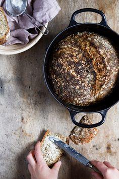 Surdejsbrød med solsikkekerner og gulerod 2 Food Crush, Bread Bun, Butter, Healthy Baking, Food And Drink, Recipes, Breads, Pancakes, Kitchen