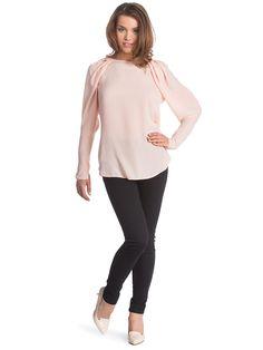 Ženske Hlače Z Žepi COLLEZIONE #Ženske_Hlače #long_sleeve #women_blouses #pale_pink #high_heels #women_fashion