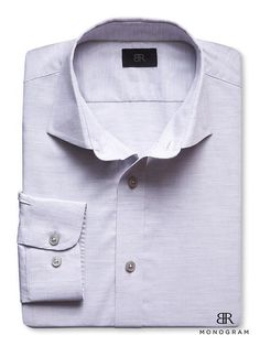 BR Monogram Italian Woven Heathered Shirt