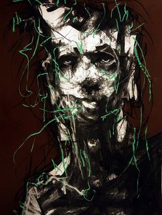 Joseph Loughborough.Golgoth, 2012. Charcoal on paper, 59 x 84 cm. #illustration